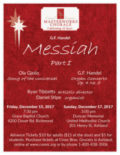 Central Virginia Masterworks Chorale will be performing Handel's Messiah and Gjeilo's Song of the Universal.